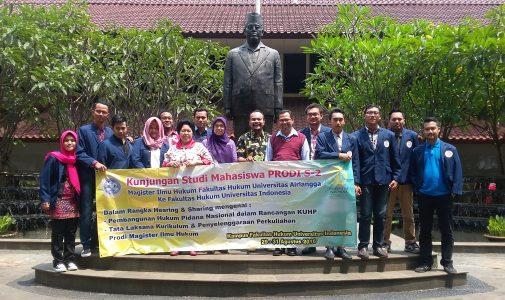 KUNJUNGAN STUDI MAHASISWA PRODI S-2 KE FAKULTAS HUKUM UNIVERSITAS INDONESIA